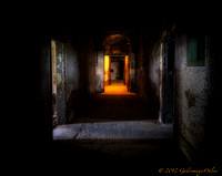 Historic Ohio State Reformatory- (oil paint) The hallway of Light ( west cell blockshower)
