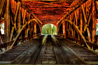 "Guilford IN Covered Bridge ""Inside Out"""